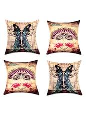 Traditional Digital Print Cushion Covers(Set Of 4) - SEJ By Nisha Gupta