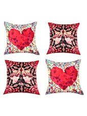Romantic Digital Print Cushion Covers(Set Of 4) - SEJ By Nisha Gupta