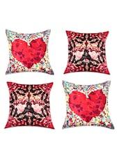 Romantic Digital Print Cushion Covers(Set Of 4) - SEJ By Nisha Gupta