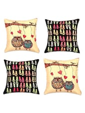 Quirky Digital Print Cushion Covers(Set Of 4) - SEJ By Nisha Gupta
