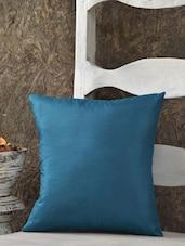 Green Silk Cushion Cover - SEJ By Nisha Gupta