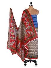 Multicoloured Printed Cotton Suit Set - Ethnic Vibe - 991088