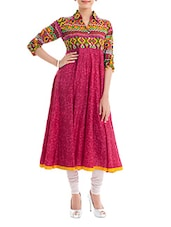 Pink-tone Collared Anarkali - Naksh Jaipur