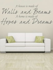 """A HOUSE MADE OF WALLS..."" Quoted Wall Sticker - My Wall"
