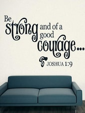 """Be Strong And Of..."" Quoted Wall Sticker - My Wall"
