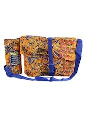 Multicolor Cotton Quotes Sling Bag - THE JUTE SHOP
