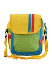 Multicolor Jute Cotton Color Block Sling Bag - THE JUTE SHOP