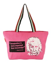 Pink Quoted Jute Bag - THE JUTE SHOP
