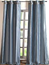Lustre Steel Polyester Door Curtain - Deco Essential
