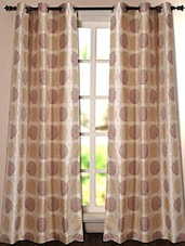 Beige Geometric Printed Polyester Door Curtain - Deco Essential