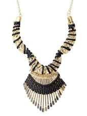 Golden Party Metal Alloy  Necklace - Modish Look