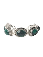 Metal Alloy Antique Look Green Bracelet - Modish Look