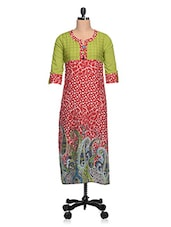 Multicoloured Paisley Print Cotton Kurta - NAVRITI