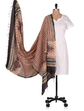Hand Block  Printed  Chanderi  Dupatta - Geeta Creation - 994198