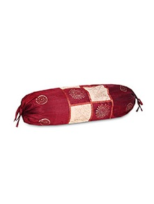 cream & maroon polysilk pillows insert