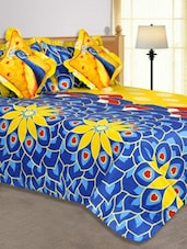 Multi Colored Floral Printed Cotton Blend Bed In A Bag - Salona Bichona