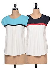 Combo Of Round Neck Colour Block Top - London Off