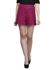 Red Lace Shorts - Femella