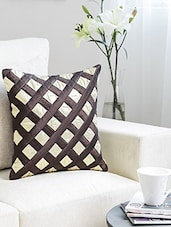 Dekor World Square Of Shimmer Cushion Cover (Pack Of 2) - By