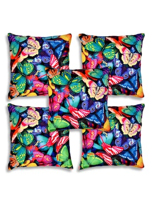 multicolor velvet single cushion cover -  online shopping for Cushion Covers
