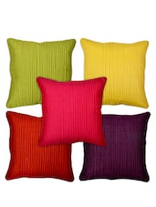 Silk Multicolor Striped Cushion Cover -  online shopping for Cushion Covers