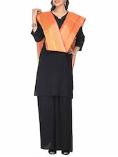 Orange Cotton Silk Dupatta - By