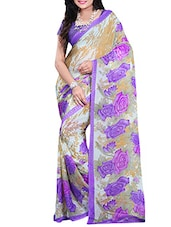 Purple Chiffon Saree - By