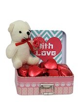 Multicolor Soft Toy With Chocolates Box Gift Set - By