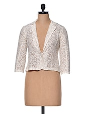 Ivory Lace Blazer - Meee!