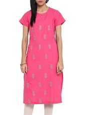 Pretty In Pink Long Cotton Kurta - Ekmatra