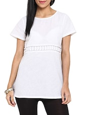 Chic White Handspun Cotton Tunic - Ekmatra