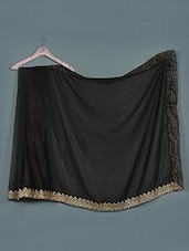 Chic Black Georgette Foil Saree - Aarohii