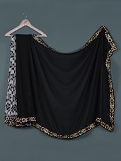 Floral Black And White Georgette Saree - Aarohii
