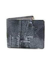 Black Leatherette Wallet & Card Holder - By