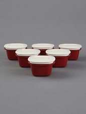 Red Storage Containers Combo Set Of 6 - By
