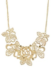 Floral Gold Metal Alloy Necklace - ESmartdeals