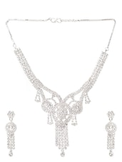 American Diamond Studded Necklace Set - Savi