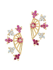 Multicolor Gold Plated Cubic Zirconia Studs - By