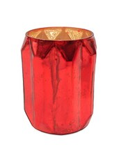 Red Glass Votive - By