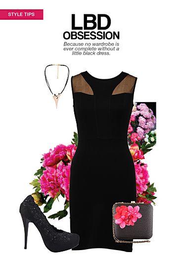 Lbd Obsession Buy Solids Black Dresses Black Heels With Black