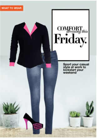 Comfort Dressing this Friday.