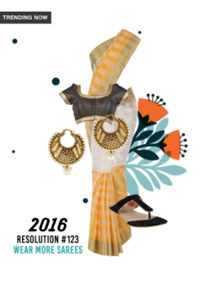 2016 Resolution #123 wear more sarees