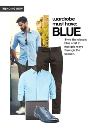 Wardrobe must have: Blue