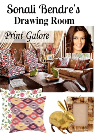 Sonali Bendre's Drawing Room Decor