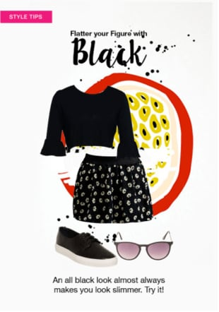 Flatter your Figure with Black
