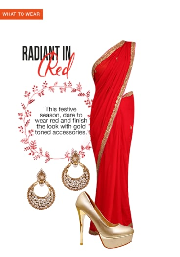 908d638fda4 Radiant In Red - Buy Red Sarees