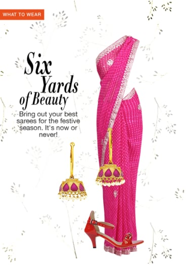 99b66e9b7f989d Six Yards Of Beauty - Buy Pink Sarees