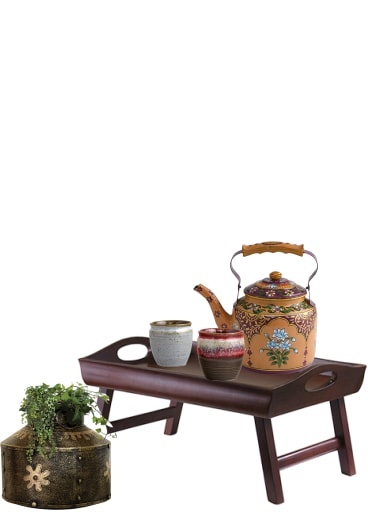 Buy Brown Furniture, Red Everyday Glasses, Multi Pots U0026 Creamers, Grey Cups  With Blue Pots U0026 Planters Scrapbook Look By Aparna