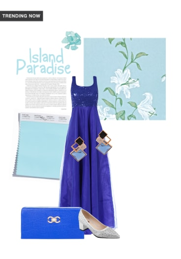 Island Paradise Buy Crystal Blue Earrings Blue Dresses With Blue