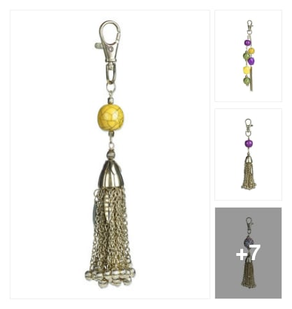 "Chain for hand bag charm. Online shopping look by Trends update by ""Sheetal Thakur"""